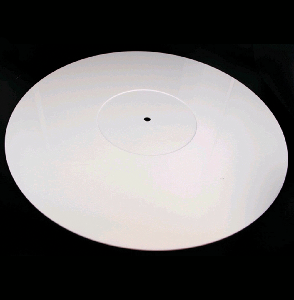 Pure White Perspex Turntable Mat Dia 295mm